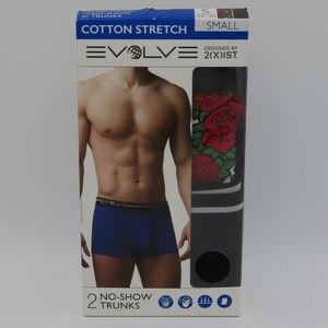2xist Evolve Cotton Stretch No-Show Trunks